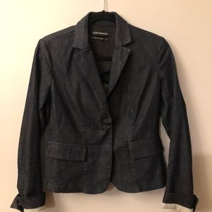 Club Monaco denim blazer with stretch